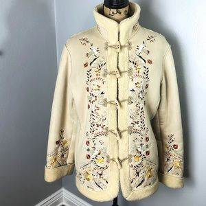 1MADISON SHERPA  EMBROIDERED COAT